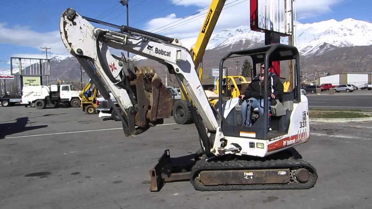 Kubota Mini Excavator For Sale >> Mini Excavator Trackoe Bobcat 331-G Kubota Diesel Hydraulic Thumb VIDEO FOR SALE $24,800 - YouTube