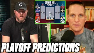 Pat McAfee & AJ Hawk's Picks For The NFL Playoff Divisional Round