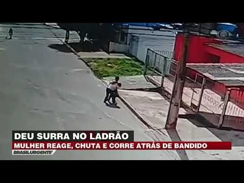 DF: Ladrão tenta assaltar mulher e leva surra