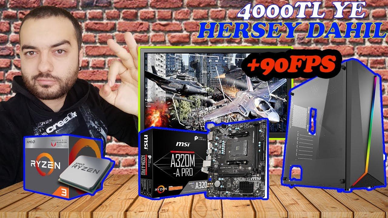 4000 TL YE HERŞEY DAHİL BİLGİSİYAR TOPLAMA !! ONLİNE OYUNLARDA +90 FPS !!