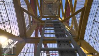 Grand Theft Auto V First person crane climbing