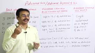 Advance Payment of Tax | Section of Advance Tax | Due Date of Installment of Advance Tax |