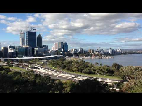 Perth skyline 2016 timelapse