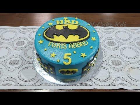 Lucu Unik Superhero Batman Dekorasi Kue Ulang Tahun Anak Laki Laki Youtube
