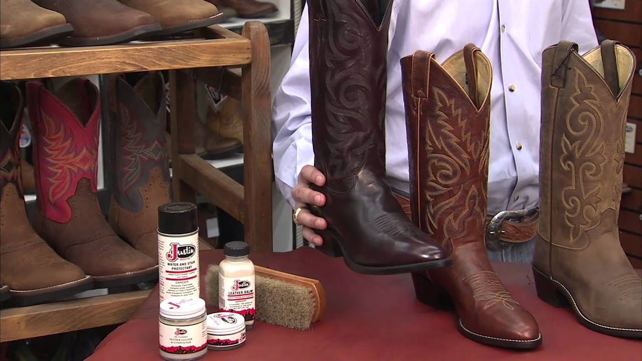 How to Care for Your Justin Boots - YouTube