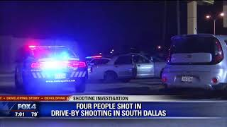 4 shot in drive-by shooting in South Dallas
