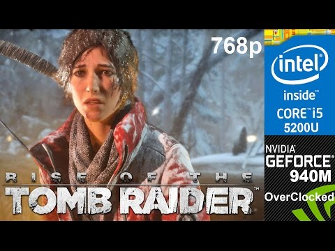 Rise of the Tomb Raider  on Overclocked 940m, HP Pavilion 15-ab032TX Laptop