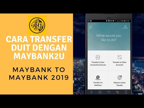 Cara Transfer Duit Dengan Maybank2u Maybank To Maybank Youtube