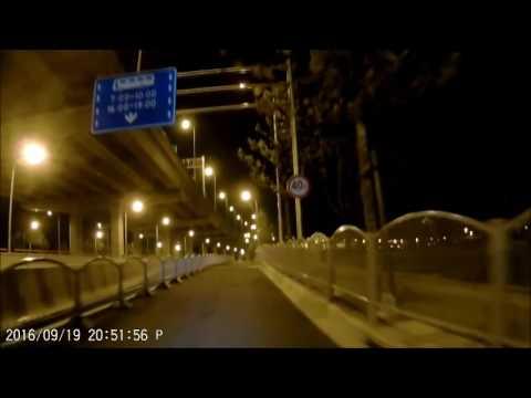 Bike Ride in Shanghai w/ Sport Cam 20160919 - Night Ride