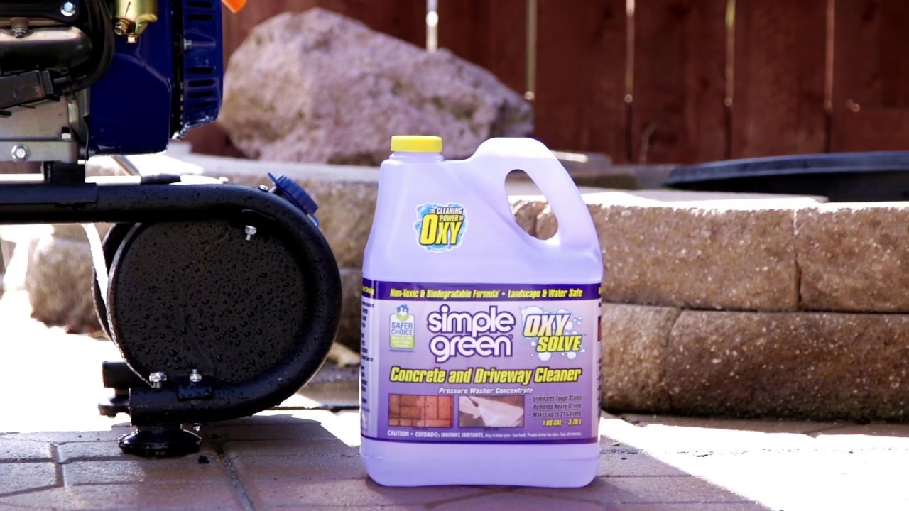 Simple Green 174 Oxy Solve Concrete And Driveway Cleaner