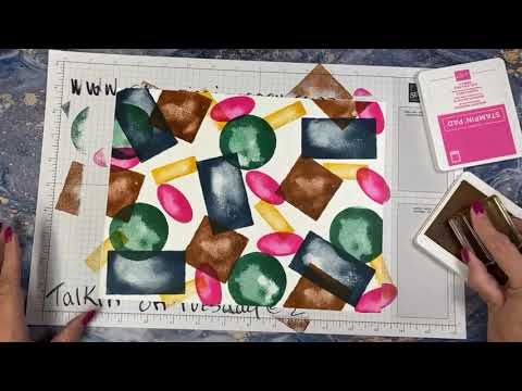 Talkin' on Tuesday @ 2 Making our own designer paper & four quick cards!