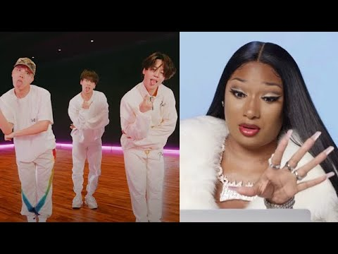 Megan Thee Stallion REACTS to BTS 3J Butter Remix Dance Video on Twitter! [Footage Edit]