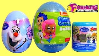 Disney FROZEN FASHEMS ❤ NEW ❤ Bubble Guppies Surprise Eggs Olaf Peppa Fairies MegaBloks Kinder