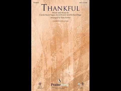 THANKFUL (SAB) - Josh Groban/arr. Tom Fettke