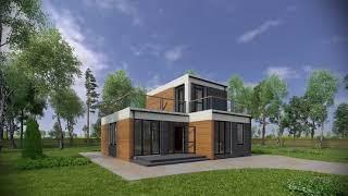 Видео о сути метода возведения модульного дома