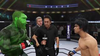 Cthulhu vs. Bruce Lee (EA Sports UFC 3) - CPU vs. CPU
