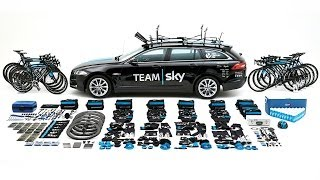 Team Sky's 2014 Tour de France Jaguar XF Sportbrake Unpacked