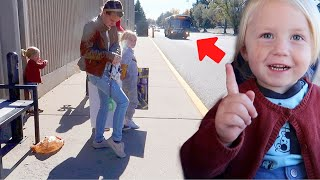 7 KIDS REACT TO RIDING THE CITY BUS FOR THE FIRST TIME!