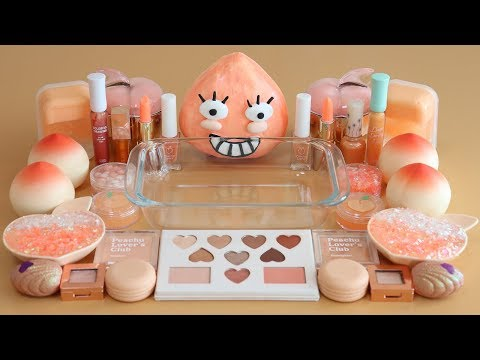 """""""One Color Series Season 7"""" Mixing """"PEACH""""Makeup,More Stuff & PEACHSlime Into slime!"""