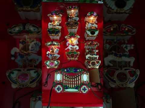 Mr. Christmas Carousel Lighted Musical Holiday 21 Songs 1992