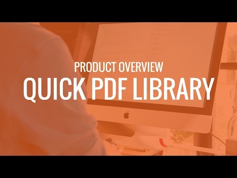 Quick PDF Library Product Overview and Tutorial