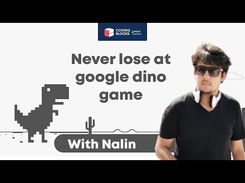 Never Lose a Google Dino Game | Robotics for Beginners | Coding for Kids | Coding Blocks Junior