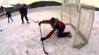 2014 01 01 играем в хоккей Омск GoPro