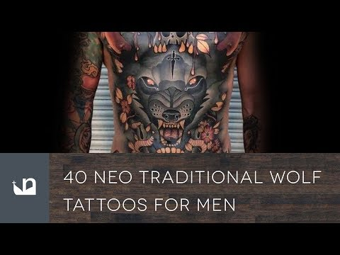 40 Neo Traditional Wolf Tattoos For Men