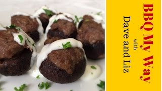 Stuffed Mushrooms - With Sausage And A Great Dipping Sauce.