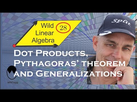 Wild Linear Algebra 28: Dot products, Pythagoras' theorem, and generalizations