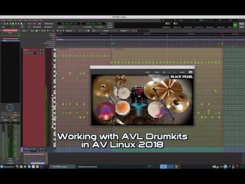 Working with AVL Drumkits in Ardour using AV Linux 2018
