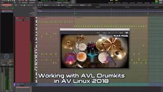 MHK Drumkits Heves ile çalışan 2018 AV Linux kullanmaya