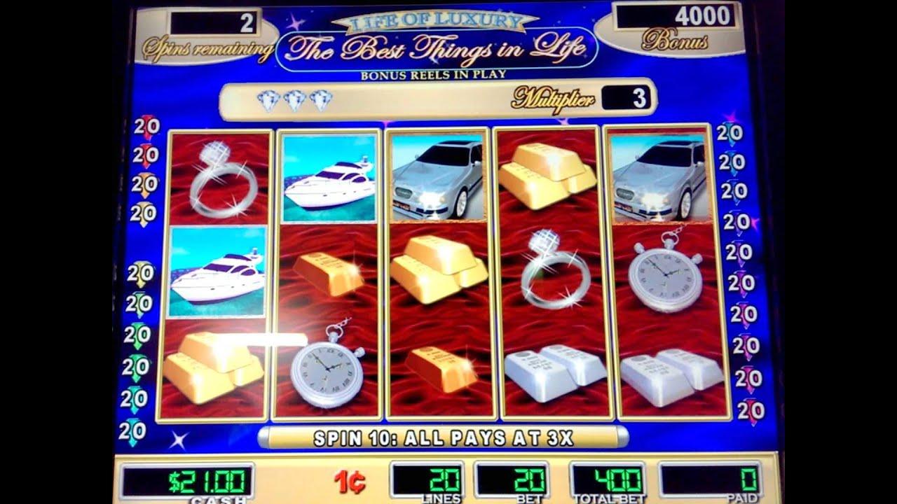 Life Of Luxury Slot Machine Westfield Slots Youtube