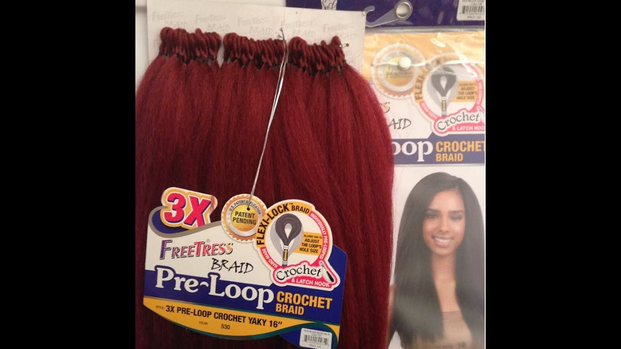 Crochet Hair Pre Loop : FIRST LOOK NEW FREETRESS 3X PRE LOOP YAKY CROCHET BRAID 16 - YouTube