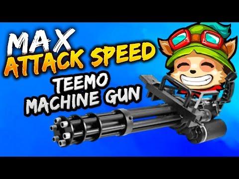 TEEMO MACHINE GUN! 2.50 ATTACK SPEED! FAROLINO