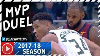 LeBron James vs Giannis Antetokounmpo MVP Duel Highlights (2017.10.20) Cavs vs Bucks - MUST SEE!