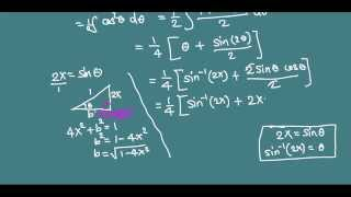 Integration of sqrt{1-4x^2} using trig substitution