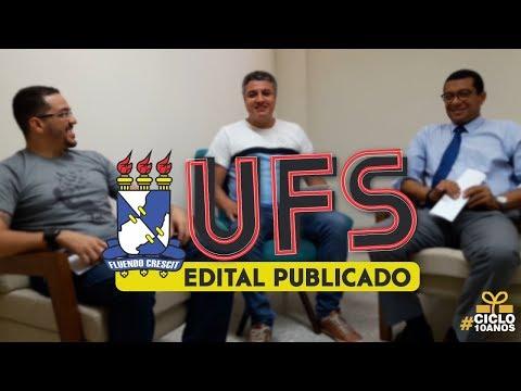 CONCURSO UFS - EDITAL PUBLICADO