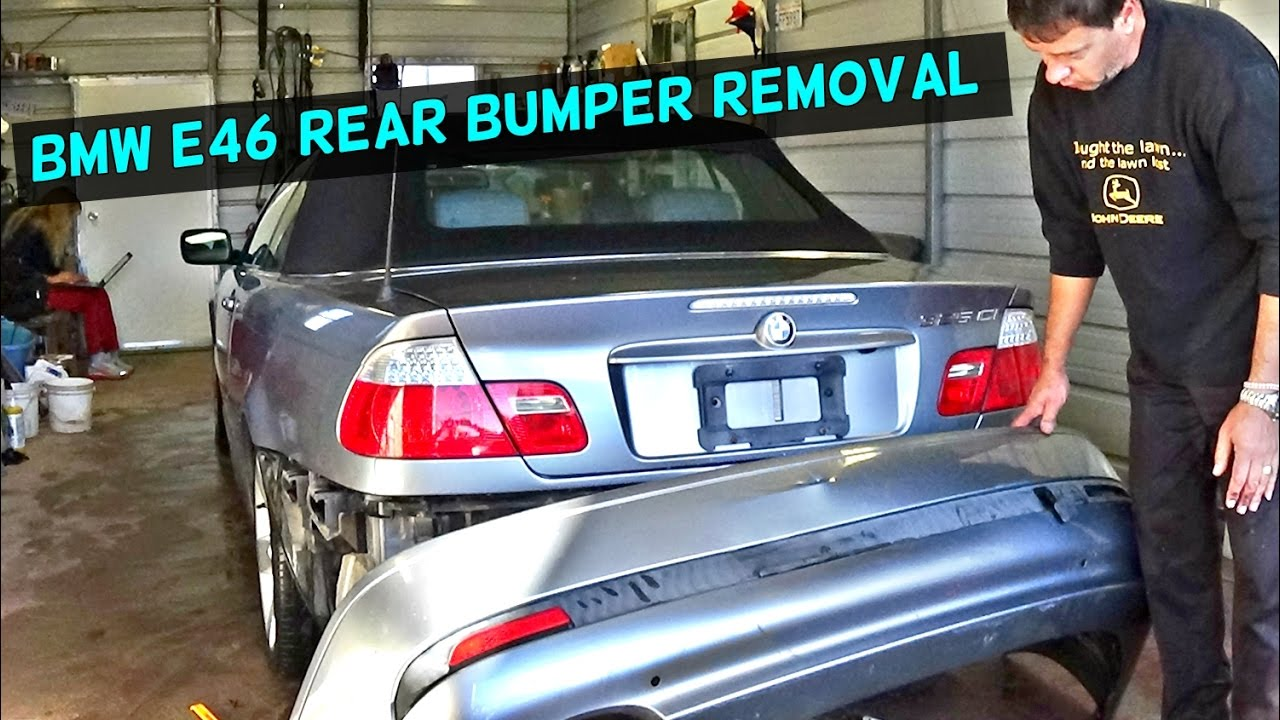 bmw rear bumper replacement  BMW E46 REAR BUMPER COVER REMOVAL REPLACEMENT - YouTube