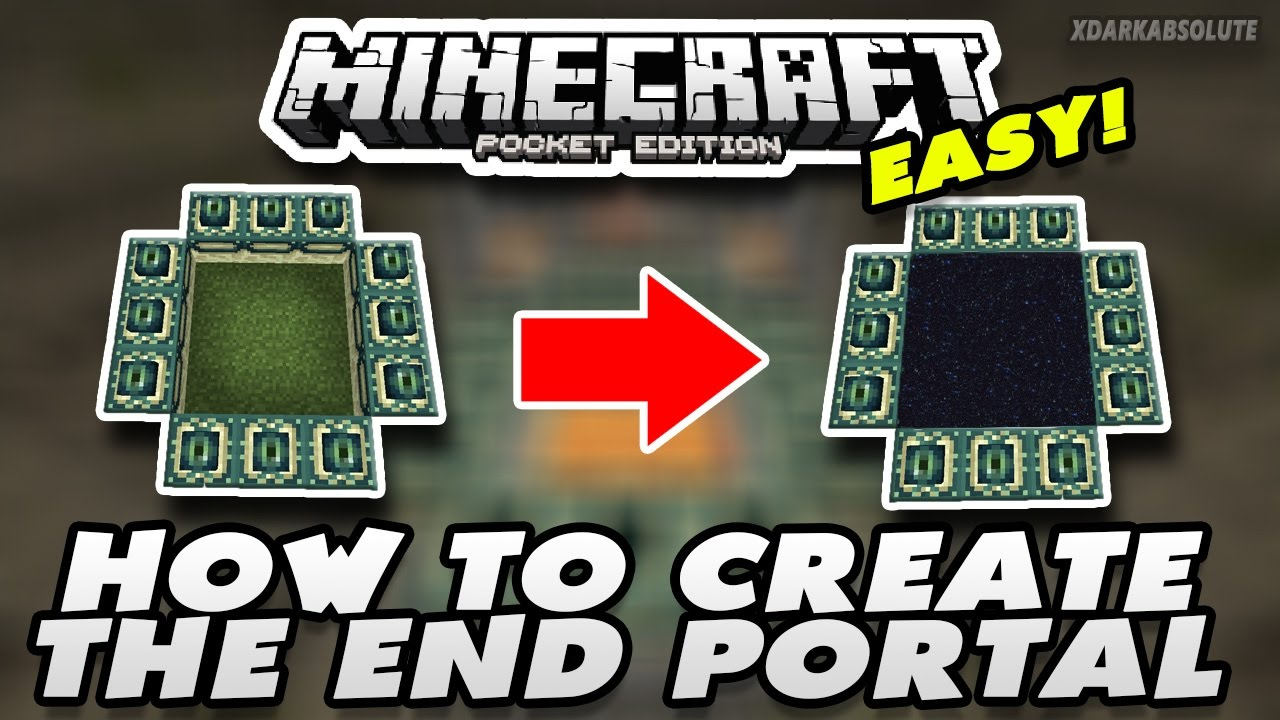 How to make a ender portal in minecraft pe new update