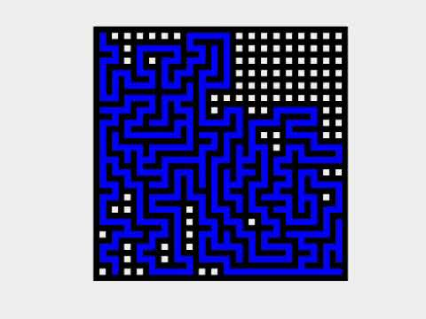 Maze Generation with Recursive Backtracking (20x20)