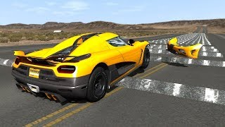 400 Consecutive Speed Bumps CRASHES  -  BeamNG