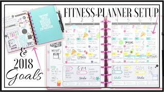 My 2018 Fitness Planner 🍏 🏋🏽‍♀️🚴🏽‍♀️ Setup & Goals | At Home With Quita