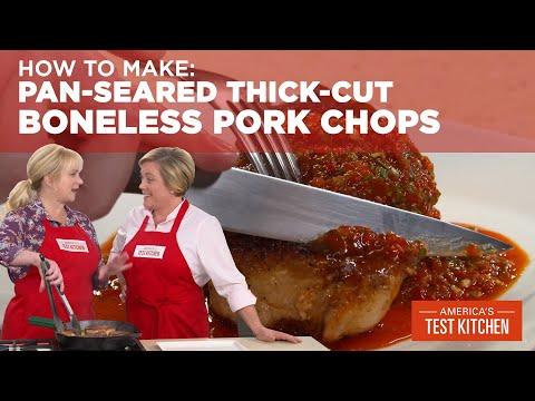 How To Make Pan-Seared Thick-Cut Boneless Pork Chops