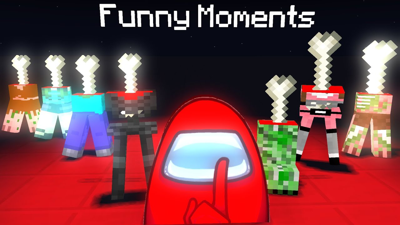 Monster School : AMONG US Funny Moments - Minecraft Animation