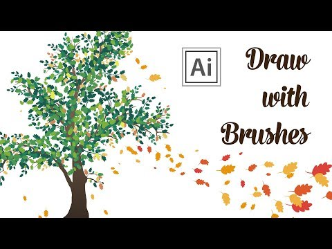Draw With Brushes - How I Draw An Autumn Tree In Adobe Illustrator