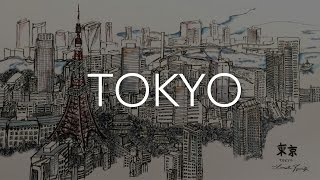 City Speed Drawing: TOKYO