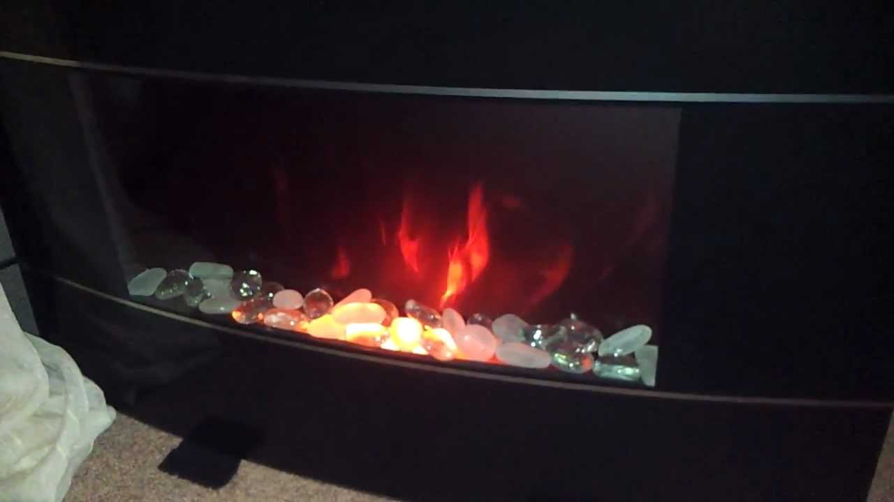 Bionaire Electric Fireplace Demo - YouTube