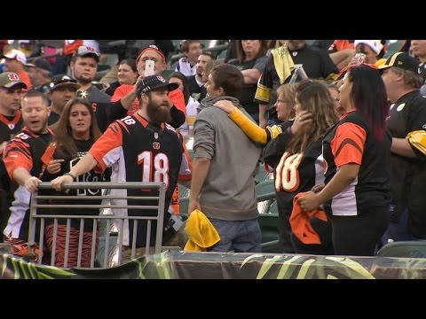 Bengals vs. Steelers Fans Interview, Joey Porter, Burfict Dirty?, Artie Burns/William Jackson