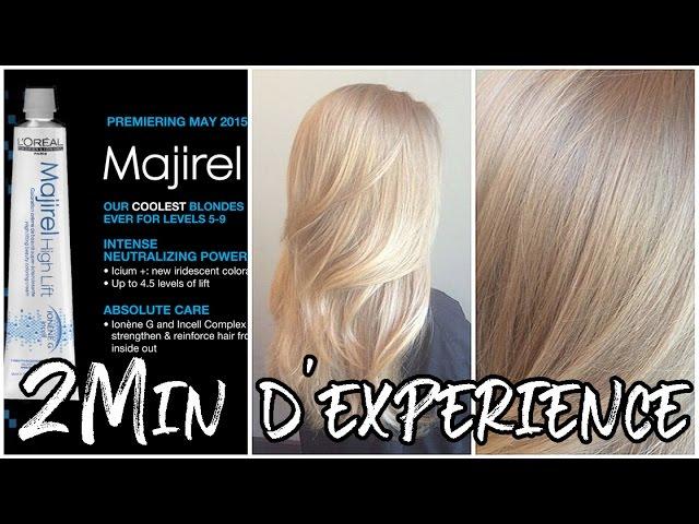 2min D Experience Super Eclaircissante Avec Majirel Youtube